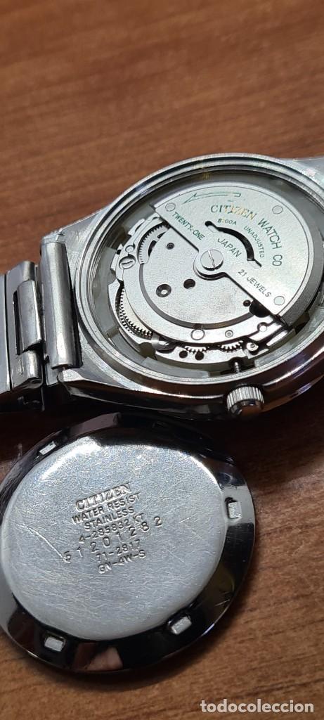 Relojes - Citizen: Reloj caballero (Vintage) CITIZEN automático acero con doble calendario a las tres, correa de acero - Foto 14 - 280209653