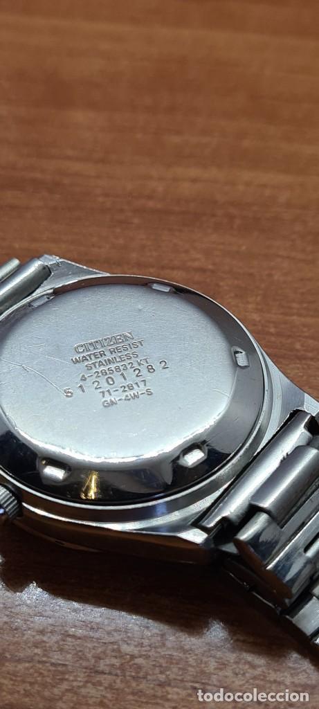 Relojes - Citizen: Reloj caballero (Vintage) CITIZEN automático acero con doble calendario a las tres, correa de acero - Foto 16 - 280209653