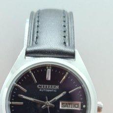 Relojes - Citizen: RELOJ CABALLERO (VINTAGE) CITIZEN ACERO AUTOMÁTICO, MAQUINA VISTA, DOBLE CALENDARIO TRES, CORREA.. Lote 280332273