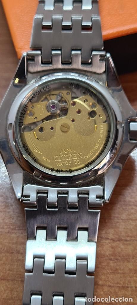 Relojes - Citizen: Reloj (Vintage) CITIZEN automático acero con máquina vista, esfera blanca, calendario, correa acero. - Foto 9 - 284402723