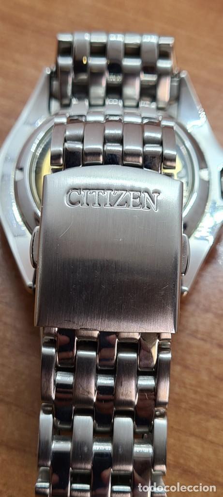 Relojes - Citizen: Reloj (Vintage) CITIZEN automático acero con máquina vista, esfera blanca, calendario, correa acero. - Foto 14 - 284402723