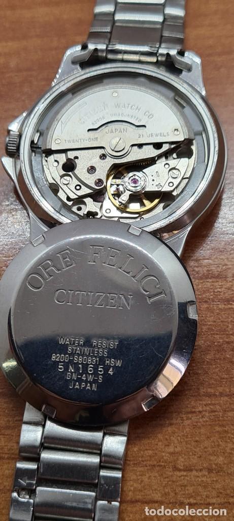 Relojes - Citizen: Reloj caballero (Vintage) CITIZEN automático acero, esfera blanca, doble calendario, correa original - Foto 10 - 284416108