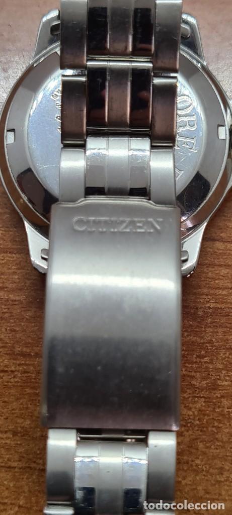 Relojes - Citizen: Reloj caballero (Vintage) CITIZEN automático acero, esfera blanca, doble calendario, correa original - Foto 14 - 284416108