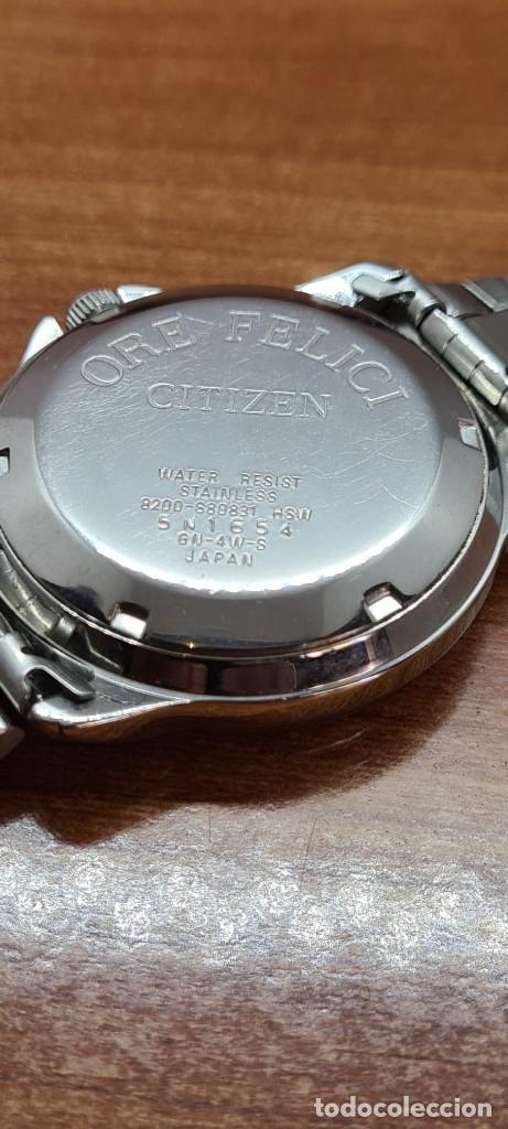 Relojes - Citizen: Reloj caballero (Vintage) CITIZEN automático acero, esfera blanca, doble calendario, correa original - Foto 15 - 284416108