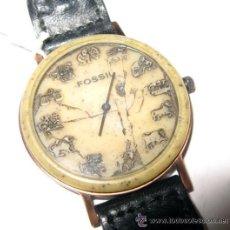 Relojes - Fossil: CURIOSO RELOJ FOSSIL CON LOS HOROSCOPOS.. Lote 32444838