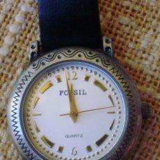 Relojes - Fossil: FOSSIL QUARTZ RELOJ DE MUJER, CORREA DE PIEL COLOR NEGRO, JAPAN MOVEMENT, BATERÍA NUEVA. Lote 42492675