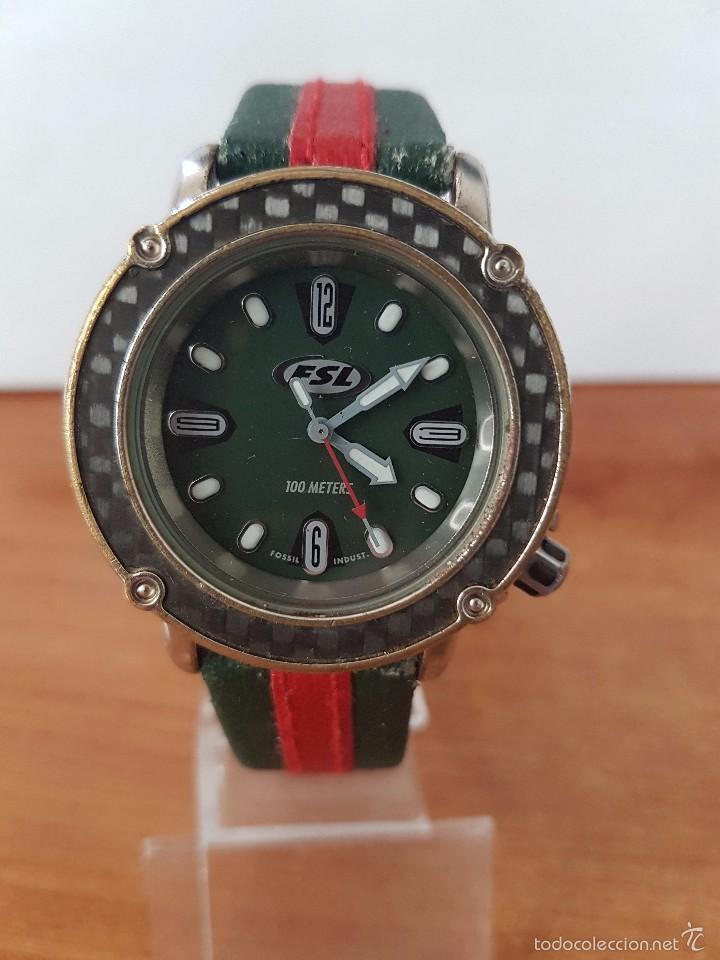 Relojes - Fossil: Reloj de caballero marca FSL (Fossil) de cuarzo con correa de cuero - Foto 6 - 58217648