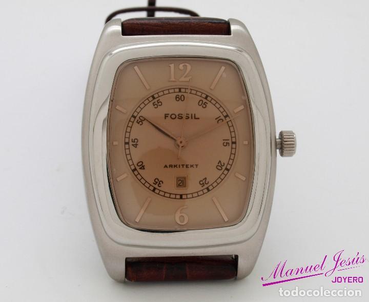 a8b83d7e39ae reloj fossil caballero caja de acero y correa d - Kaufen Uhren von ...
