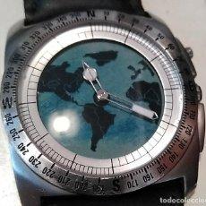Relógios - Fossil: RELOJ FOSSIL BIG TIC BG 2059 SE MUEVE EL MAPA DEL MUNDO RARO. Lote 110808531