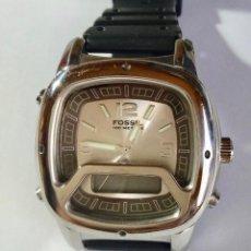 Relojes - Fossil: FOSSIL QUARTZ ,ANALOGICO DIGITAL 40X40 M/M. ALL ACERO . Lote 130621602