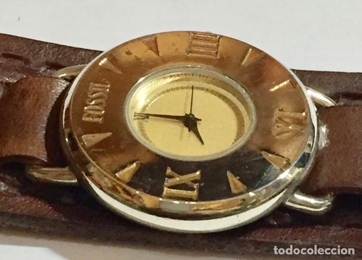 Relojes - Fossil: VINTAGE FOSSIL EN-2703 QUARTZ,SEGUNDERO, CAJA DE ACERO 38,5M/M.C/C.PULSERA NUEVA DE CUERO. - Foto 5 - 146733810