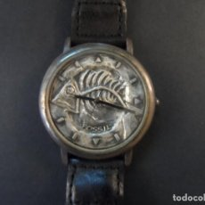 Relojes - Fossil: RELOJ CORREA CUERO ENTRELAZADO MARRON FOSSIL. MODELO COLECCION. QUARTZ. SIGLO XX. Lote 147894534