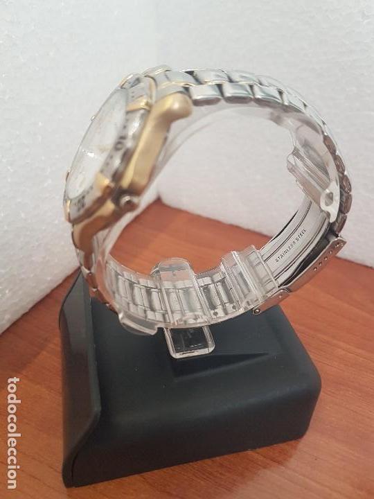 Relojes - Fossil: Reloj caballero FOSSIL cuarzo, caja acero y bicolor bisel fijo, esfera blanca, calendario, pulsera - Foto 6 - 154699798