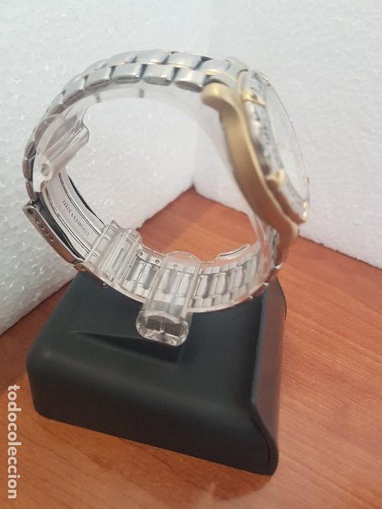 Relojes - Fossil: Reloj caballero FOSSIL cuarzo, caja acero y bicolor bisel fijo, esfera blanca, calendario, pulsera - Foto 10 - 154699798