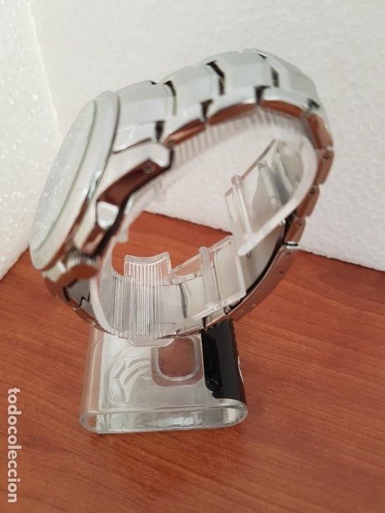 Relojes - Fossil: Reloj caballero cuarzo FOSSIL de acero multifunción con tres subesferas, esfera negra, correa origin - Foto 5 - 178228207