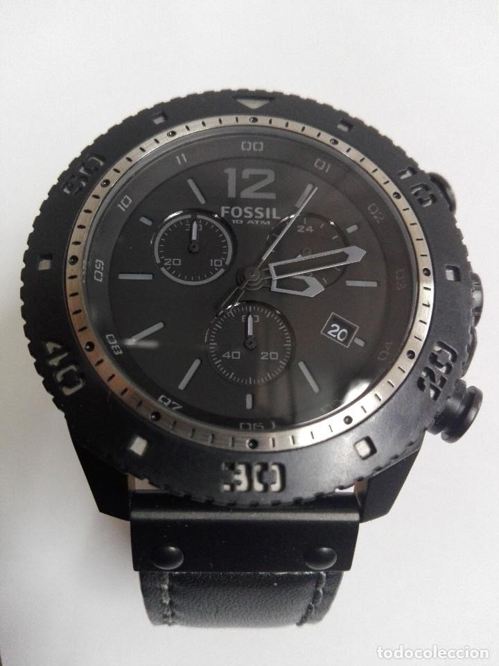RELOJ FOSSIL JR 1202 .CRONOGRAFO EN ACERO INOX. NUEVO. CORREA DE PIEL. BATERIA NUEVA (Relojes - Relojes Actuales - Fossil)