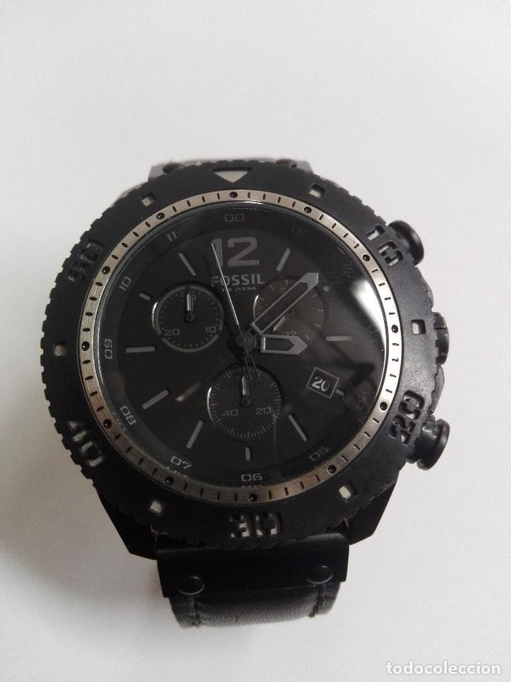 Relojes - Fossil: RELOJ FOSSIL JR 1202 .CRONOGRAFO EN ACERO INOX. NUEVO. CORREA DE PIEL. BATERIA NUEVA - Foto 2 - 183909778