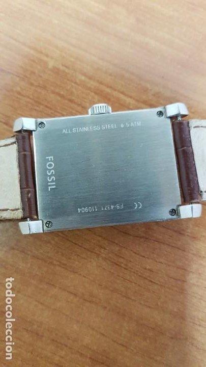 Relojes - Fossil: Reloj caballero FOSSIL de cuarzo en acero con calendario a las tres horas, correa cuero marrón. - Foto 11 - 199207937