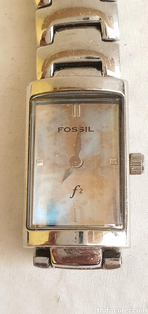 RELOJ FOSSIL CUARZO DE MUJER EN PERFECTO ESTADO ,LA ESFERA ES DE NACAR . MIDE 1.5CMX2.5C (Relojes - Relojes Actuales - Fossil)