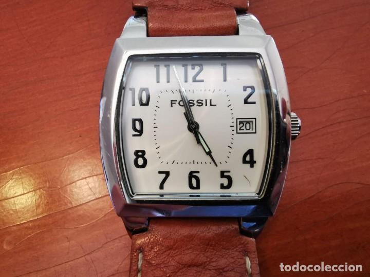 RELOJ FOSSIL JR 8291 CORREA DE PIEL ORIGINA W R 30 METROS, FUNCIONANDO (Relojes - Relojes Actuales - Fossil)