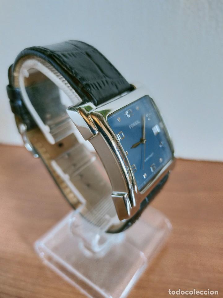 Relojes - Fossil: Reloj caballero FOSSIL de cuarzo acero con calendario a las tres horas, correa cuero negra segunda - Foto 5 - 213644068