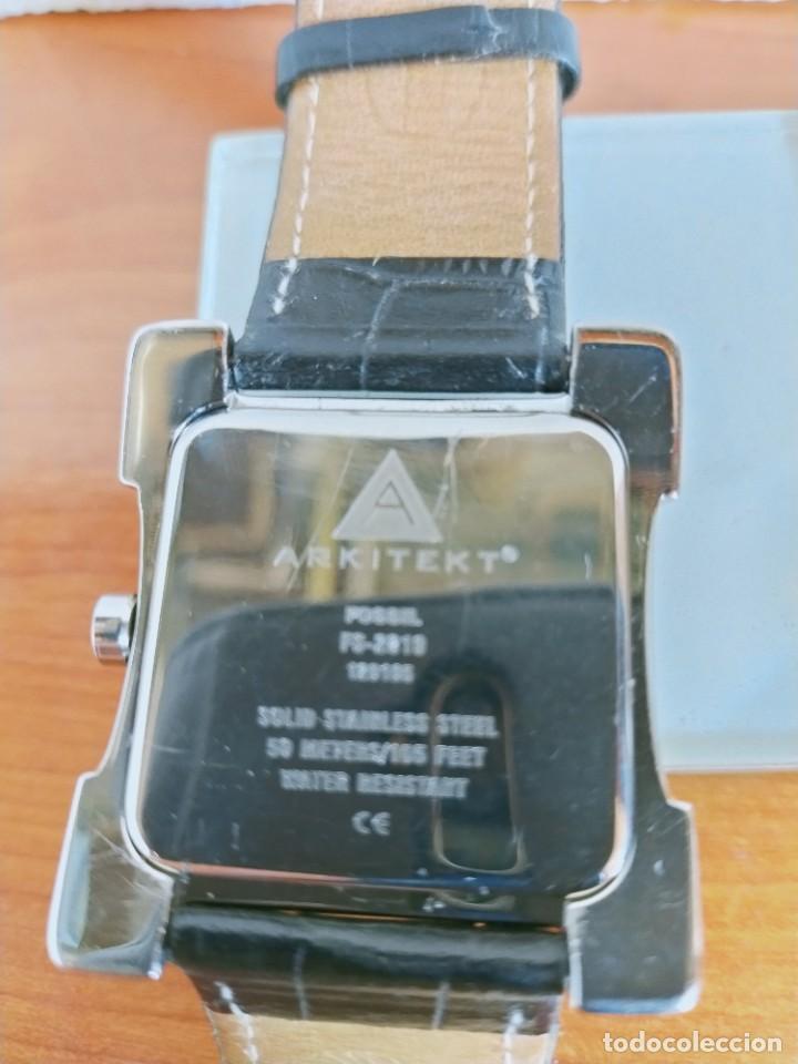 Relojes - Fossil: Reloj caballero FOSSIL de cuarzo acero con calendario a las tres horas, correa cuero negra segunda - Foto 9 - 213644068