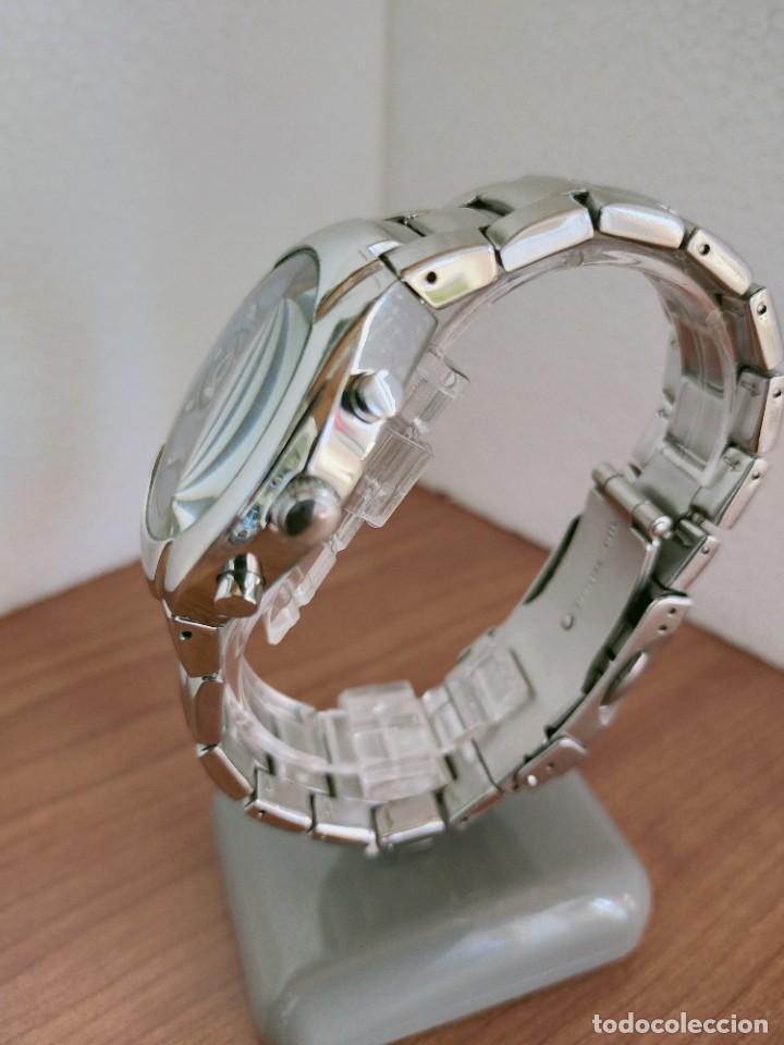 Relojes - Fossil: Reloj caballero cuarzo FOSSIL de acero cronografo con tres subesferas, esfera negra gris claro. - Foto 8 - 213801788