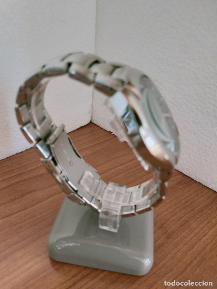 Relojes - Fossil: Reloj caballero cuarzo FOSSIL de acero cronografo con tres subesferas, esfera negra gris claro. - Foto 10 - 213801788
