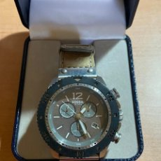 Relojes - Fossil: ORIGINAL FOSSIL JR-1203. CRONO , CALENDARIO, ALL ACERO .. Lote 128892791