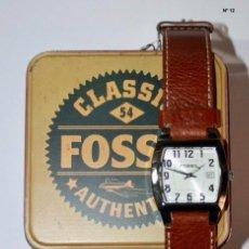 Relojes - Fossil: ORIGINAL FOSSIL REF : JR8291 ,40X35 M/M. ACERO Y CUERO SIN USO.. Lote 122466279