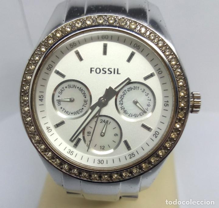 Relojes - Fossil: RELOJ FOSSIL DE CUARZO CON CIRCONITAS, PARA MUJER - CAJA 38 mm - FUNCIONANDO - Foto 2 - 222100973