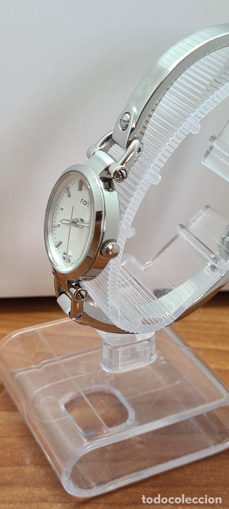 Relojes - Fossil: Reloj señora cuarzo FOSSIL de acero, esfera blanca con números acero luminiscentes, correa de acero - Foto 10 - 280873173