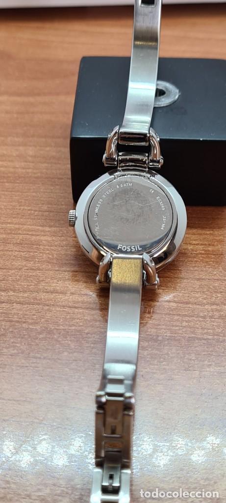 Relojes - Fossil: Reloj señora cuarzo FOSSIL de acero, esfera blanca con números acero luminiscentes, correa de acero - Foto 12 - 280873173