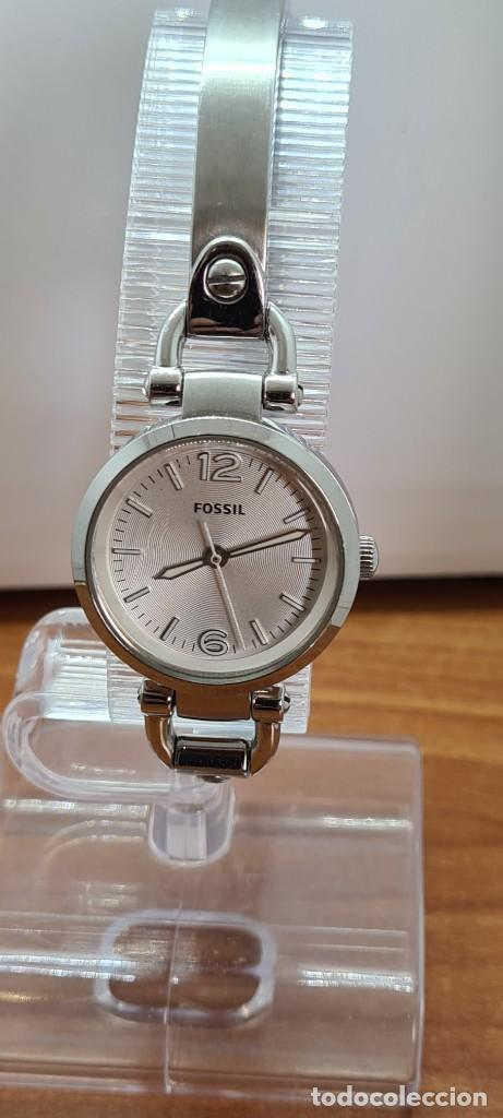 Relojes - Fossil: Reloj señora cuarzo FOSSIL de acero, esfera blanca con números acero luminiscentes, correa de acero - Foto 14 - 280873173