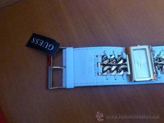 Relojes - Guess: Reloj de mujer GUESS ( NUEVO A ESTRENAR ), Correa de cuero y caja de acero inoxidable bañado en oro - Foto 5 - 36667867