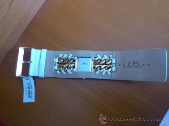 Relojes - Guess: Reloj de mujer GUESS ( NUEVO A ESTRENAR ), Correa de cuero y caja de acero inoxidable bañado en oro - Foto 6 - 36667867