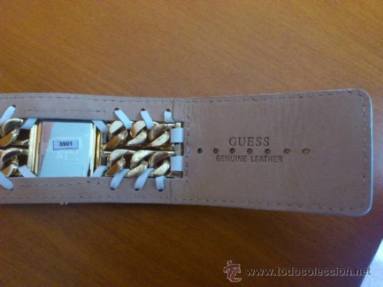 Relojes - Guess: Reloj de mujer GUESS ( NUEVO A ESTRENAR ), Correa de cuero y caja de acero inoxidable bañado en oro - Foto 7 - 36667867