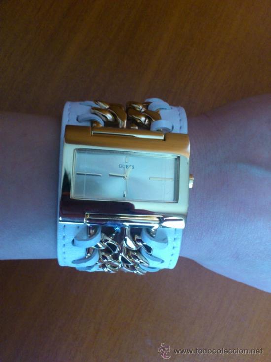 Relojes - Guess: Reloj de mujer GUESS ( NUEVO A ESTRENAR ), Correa de cuero y caja de acero inoxidable bañado en oro - Foto 9 - 36667867