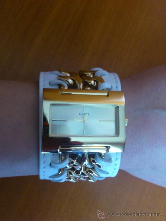 Relojes - Guess: Reloj de mujer GUESS ( NUEVO A ESTRENAR ), Correa de cuero y caja de acero inoxidable bañado en oro - Foto 11 - 36667867