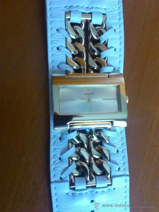 Relojes - Guess: Reloj de mujer GUESS ( NUEVO A ESTRENAR ), Correa de cuero y caja de acero inoxidable bañado en oro - Foto 12 - 36667867