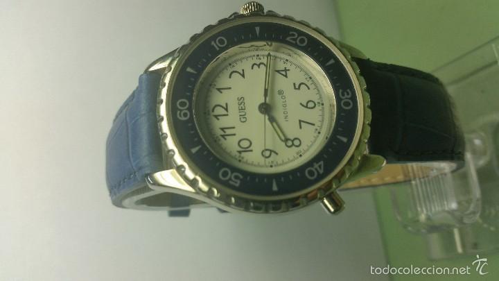Relojes - Guess: Reloj de caballero acero cuarzo marca Guess con correa de cuero nueva - Foto 2 - 56571352