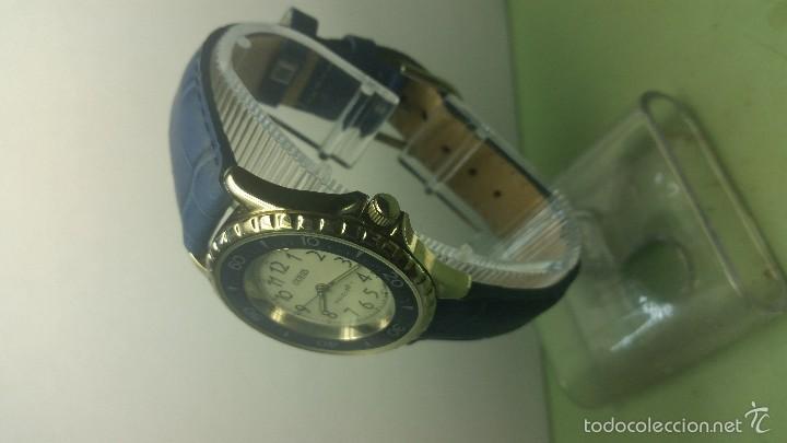 Relojes - Guess: Reloj de caballero acero cuarzo marca Guess con correa de cuero nueva - Foto 3 - 56571352