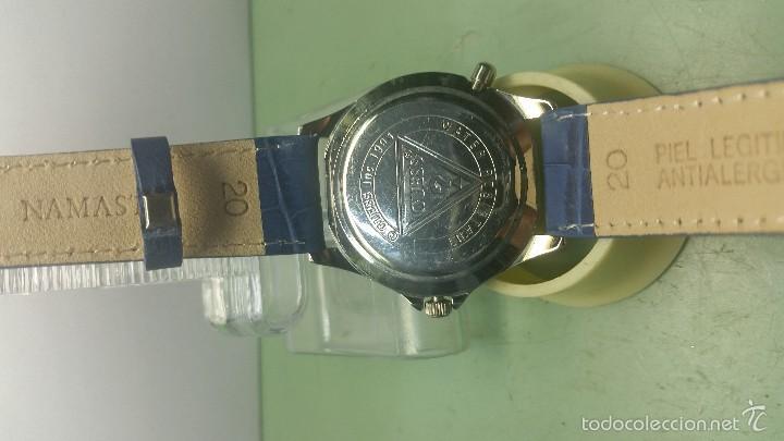 Relojes - Guess: Reloj de caballero acero cuarzo marca Guess con correa de cuero nueva - Foto 5 - 56571352