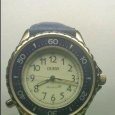Relojes - Guess: RELOJ DE CABALLERO ACERO CUARZO MARCA GUESS CON CORREA DE CUERO NUEVA. Lote 56571352