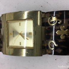 Relojes - Guess: RELOJ DE MUJER GUESS CORREA ESPECIAL CHAPADO Y EN FUNCIONAMIENTO. Lote 98547842