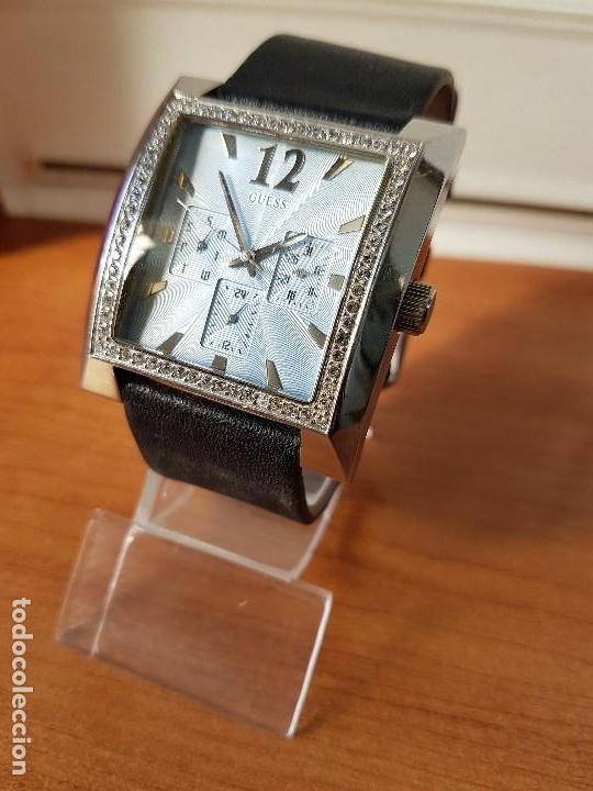 Relojes - Guess: Reloj de señora GUESS de cuarzo Elle Beauty 2004 en acero con circonios en la caja, correa cuero - Foto 2 - 105740827