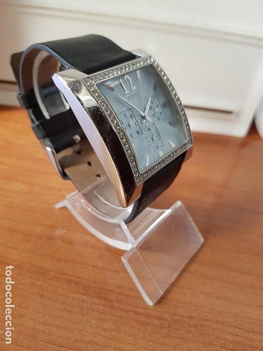 Relojes - Guess: Reloj de señora GUESS de cuarzo Elle Beauty 2004 en acero con circonios en la caja, correa cuero - Foto 5 - 105740827