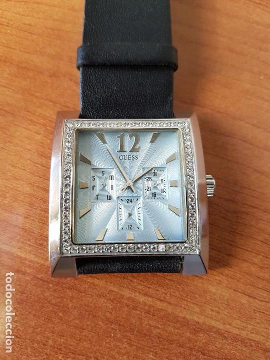 Relojes - Guess: Reloj de señora GUESS de cuarzo Elle Beauty 2004 en acero con circonios en la caja, correa cuero - Foto 7 - 105740827