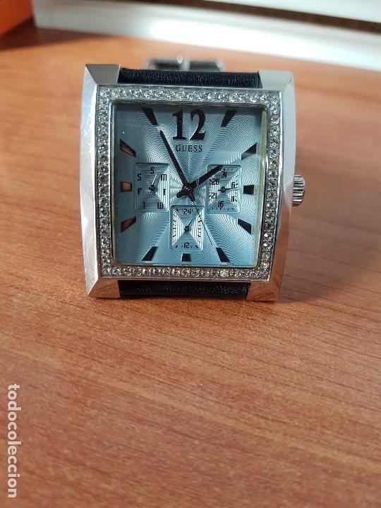 Relojes - Guess: Reloj de señora GUESS de cuarzo Elle Beauty 2004 en acero con circonios en la caja, correa cuero - Foto 8 - 105740827
