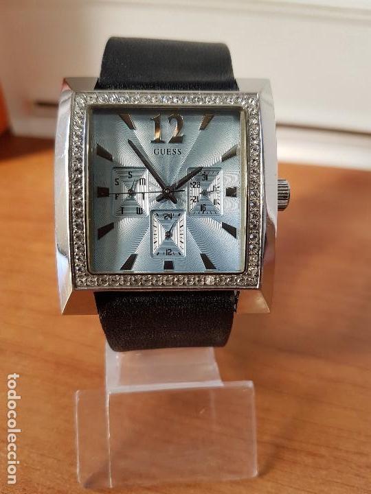Relojes - Guess: Reloj de señora GUESS de cuarzo Elle Beauty 2004 en acero con circonios en la caja, correa cuero - Foto 10 - 105740827